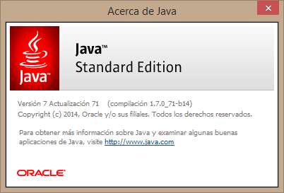 version de java
